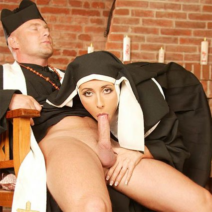 nun sucks and fucks priest